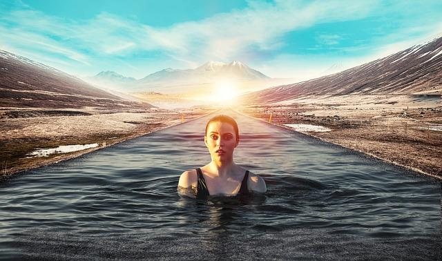 voda místo silnice
