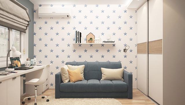 Dětský pokoj, pokoj, dům.