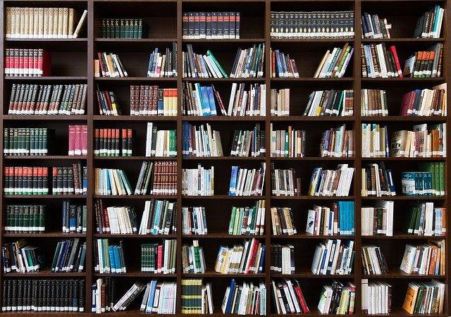 velká policová knihovna