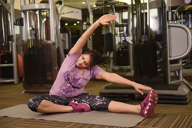 žena u cvičení